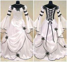 XXXL 18-20 Gothic Medieval Vampire Vampiress Witch Dress Gown Halloween Costume