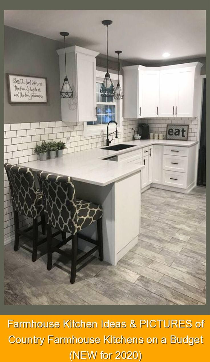 Farmhouse Kitchen Ideas & PICTURES of Country Farmhouse Kitchens on a Budget (NEW for 2020) • Afford