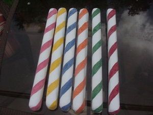 Christmas Decorations 6 Peppermint Candy Sticks Mixed - Mary-s Christmas