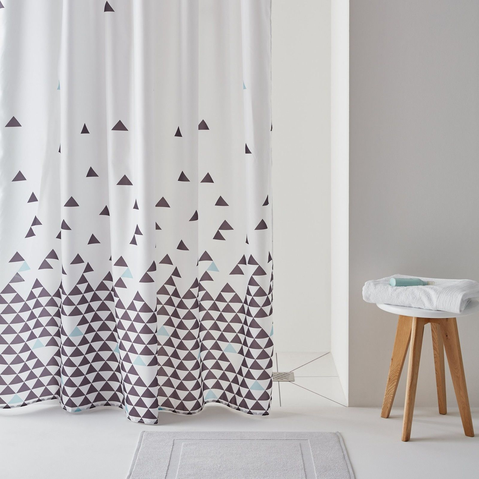 Fly Shower Curtain With Triangle Print Products Pinterest