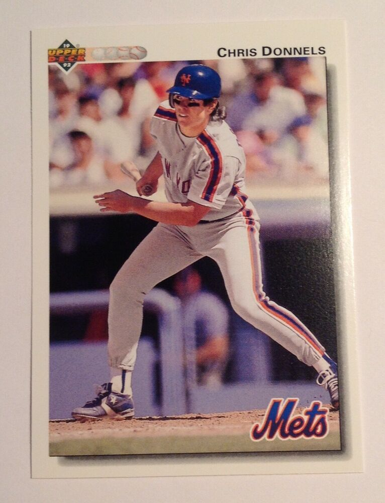 1992 upper deck chris donnels new york mets 44
