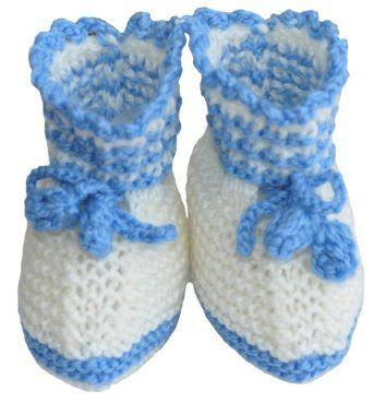 Sepatu Boot Anak Perempuan Tangan Knit Pertama Bayi Sepatu