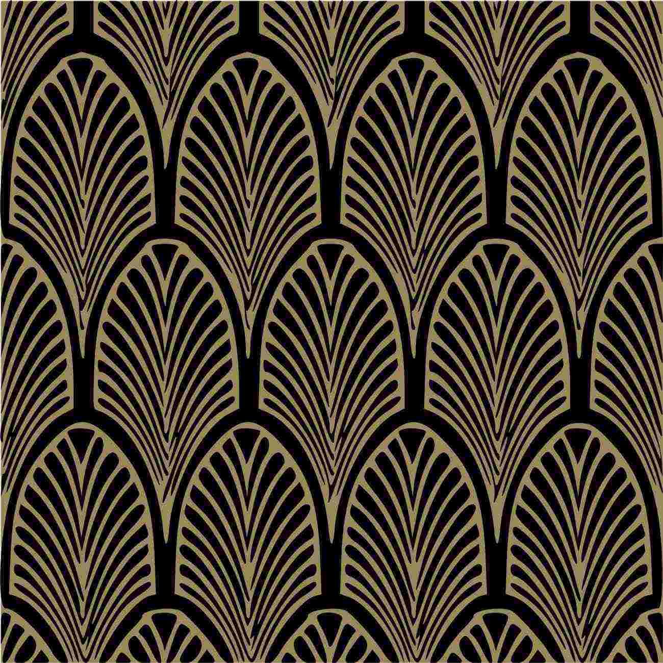 Art Deco Wallpaper Bayhouse. Fantastic Gold and Black