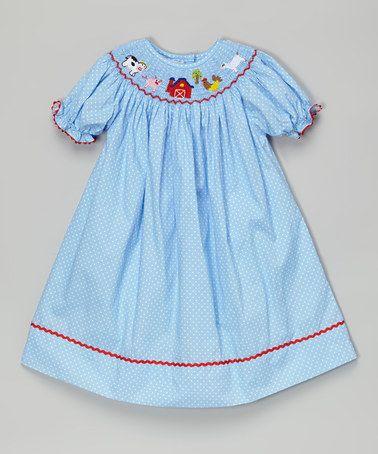 This Blue Farm Smocked Bishop Dress Infant Toddler