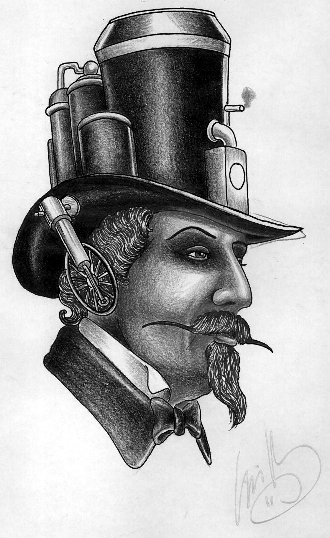 Steam Punk Tattoo Design By Louis Molloy To Win One Of His Beautiful Designs Signed Enter Our Competition At Faceb Steampunk Tattoo Steampunk Art Steampunk