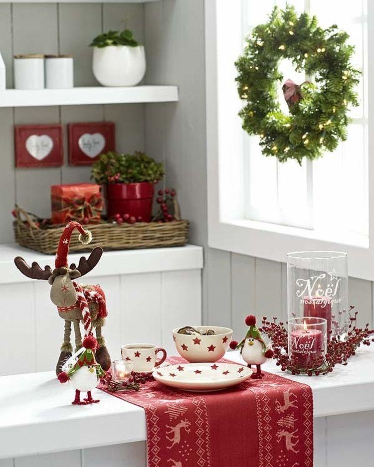 Ideas para decorar la mesa en #Navidad . #cocinas- Espaciodeco.com ...