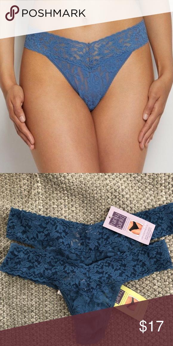 ecf3e25d0dc 💕New💕Blue Lace Thong Lowrise fits 2-12 Original Rise fits 4-14 Storm Blue Hanky  Panky Intimates   Sleepwear Panties