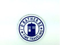 I'd Rather Be Time Traveling Dr Who Tardis Cosplay PVC Airsoft Klett Abzeichen