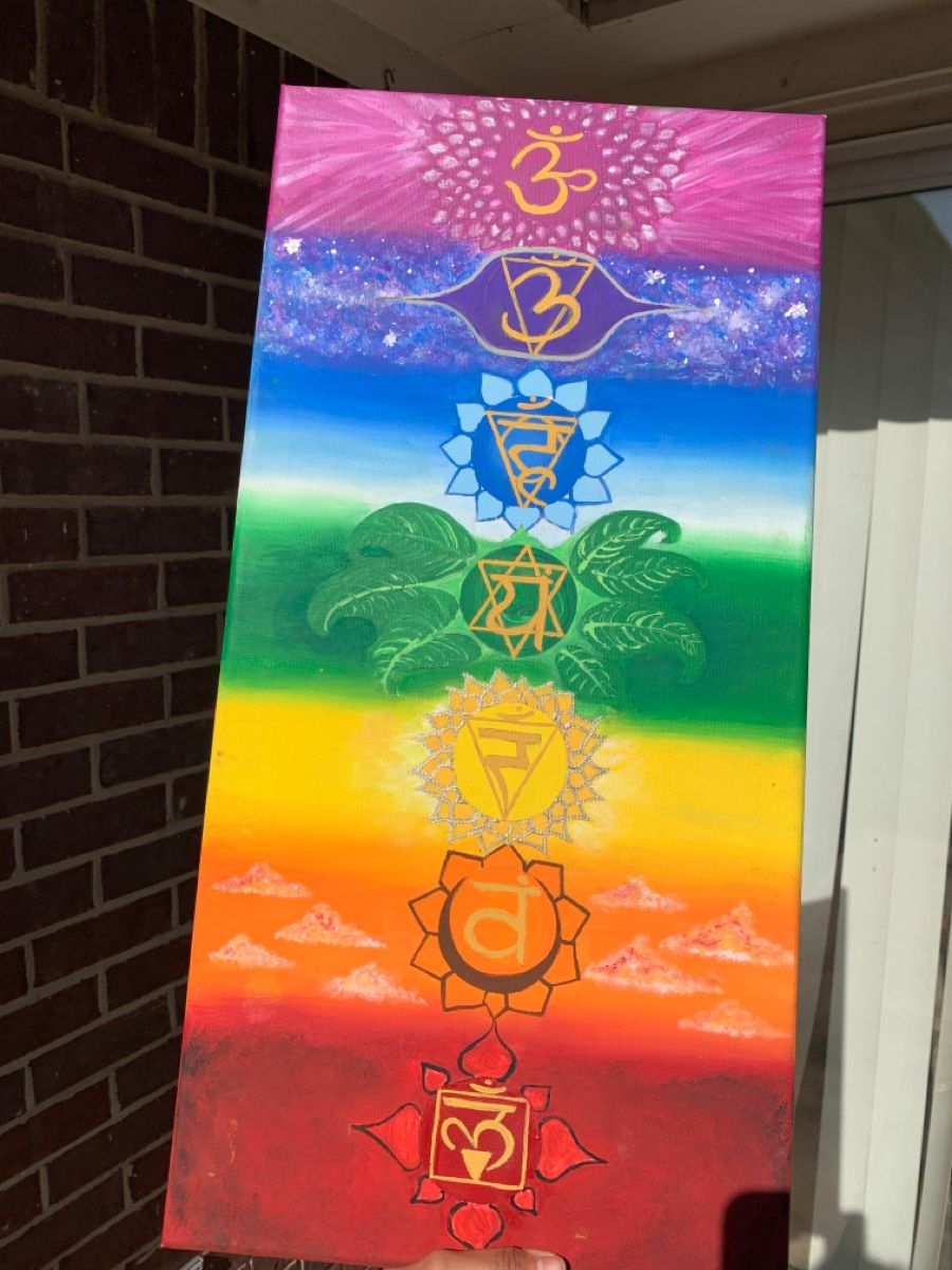 Chakra Painting Chakra Painting Canvas Art Painting Colorful Canvas Paintings