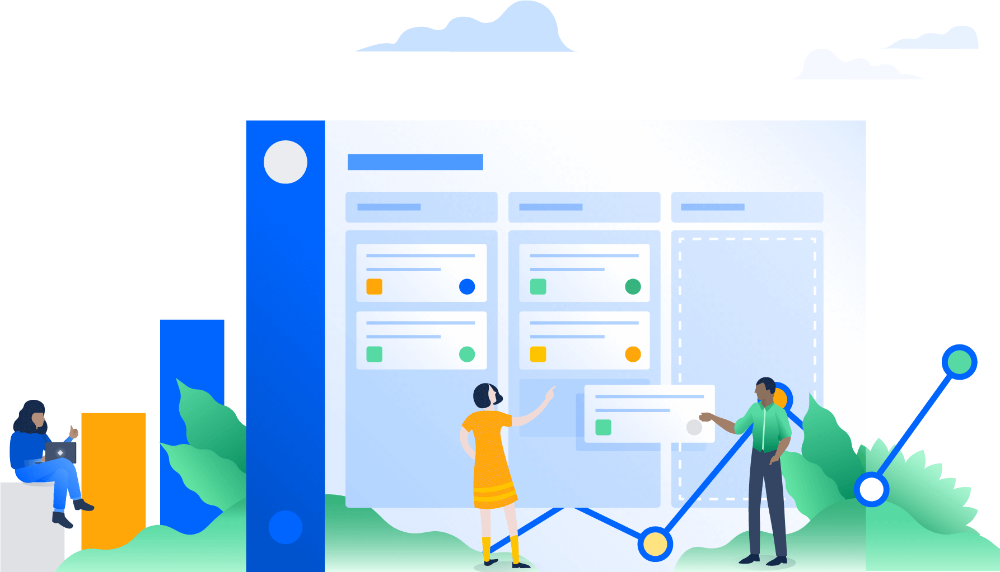 Jira Issue Project Tracking Software Atlassian In 2020 Project Tracking Software Software Business Illustration
