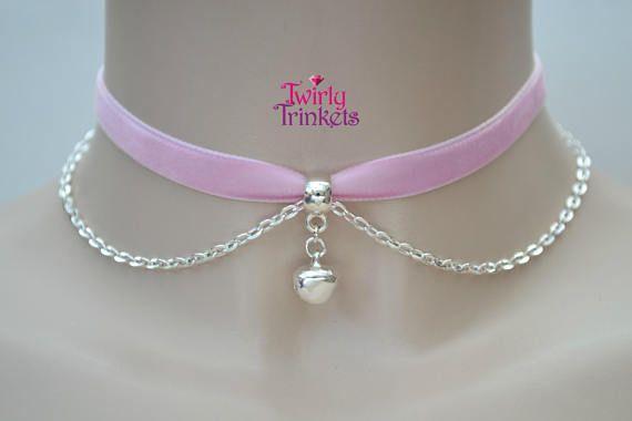 Pink choker. Pink Velvet Necklace Velvet Bow Necklace Velvet Choker