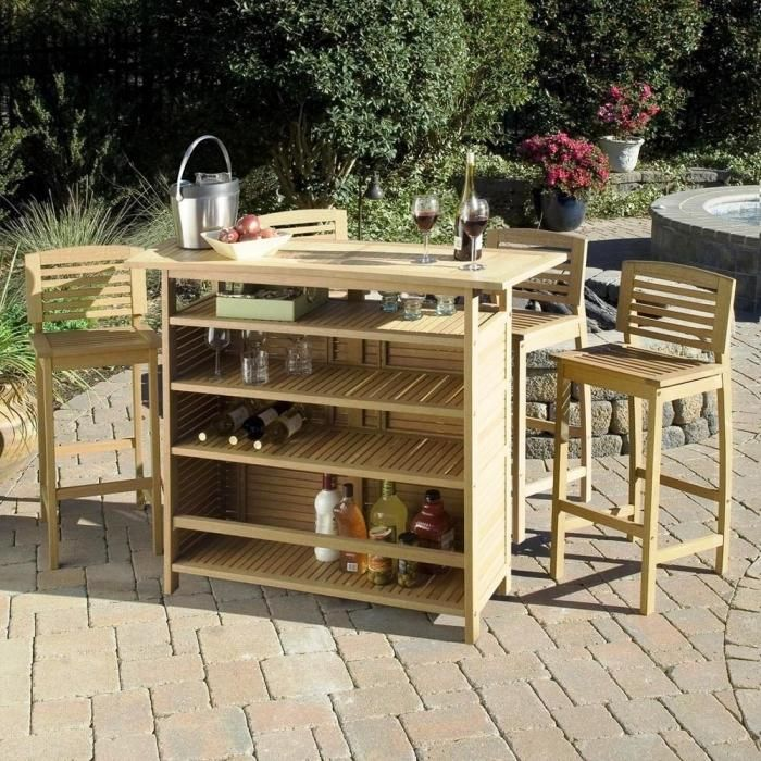 10 Sturdy Outdoor Mini Bar Ideas