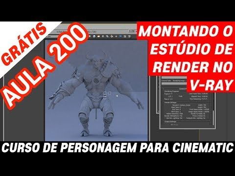 Aula 200 do curso Personagem para Cinematic – Montando o estúdio de render - YouTube