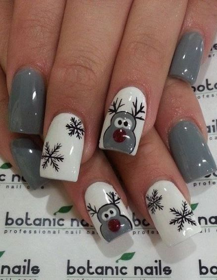 88 awesome christmas nail art design ideas 2017 - Best Christmas Nail Design Ideas