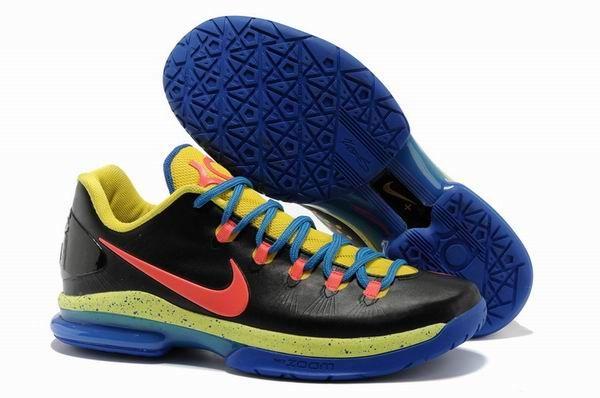 arrives best online official images Cheap KD V Elite Pink Black Blue Yellow 1 718 | Nike kd shoes ...