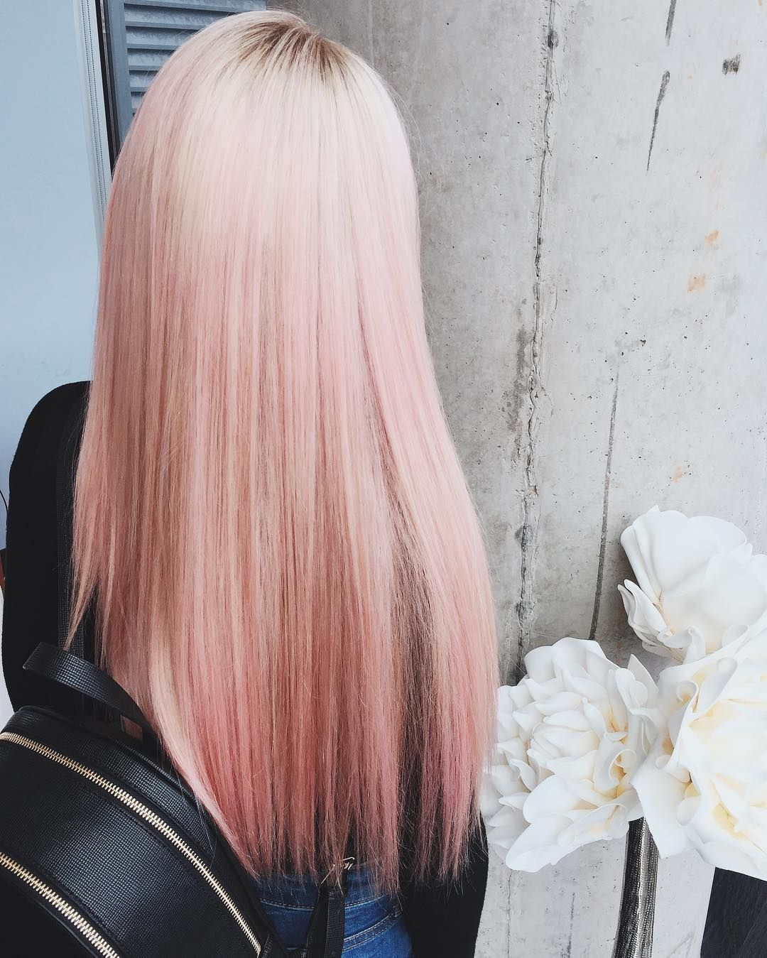 Pastel Pinkhair Straight Hair Styles Cotton Candy Rose