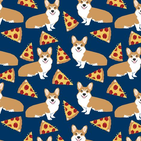 46fef0905e0e02 corgi pizza navy blue kids cute funny corgis dog dogs pet dog cute trendy  fabric for baby leggings fabric by petfriendly on Spoonflower - custom  fabric