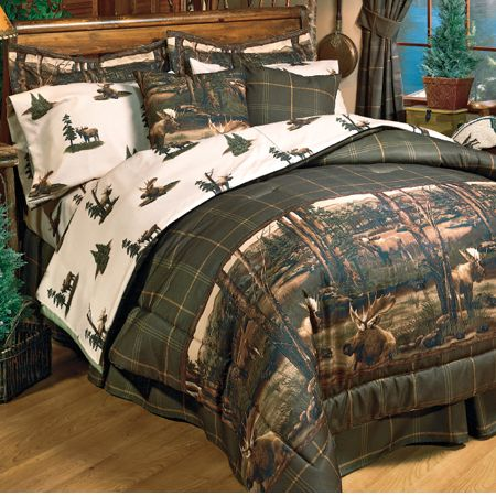 Moose Lodge Bedding Lodge Comforter Set Cabin Bedding