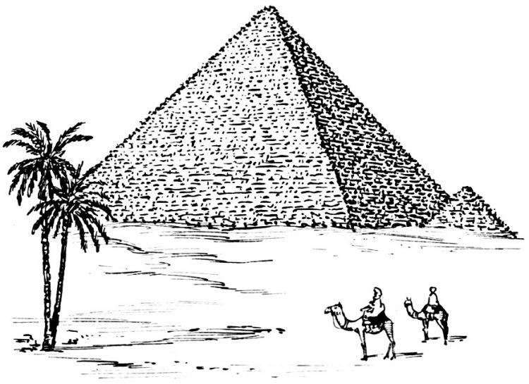 pyramid crafts for children   Coloring page Pyramid - img 15961 ...