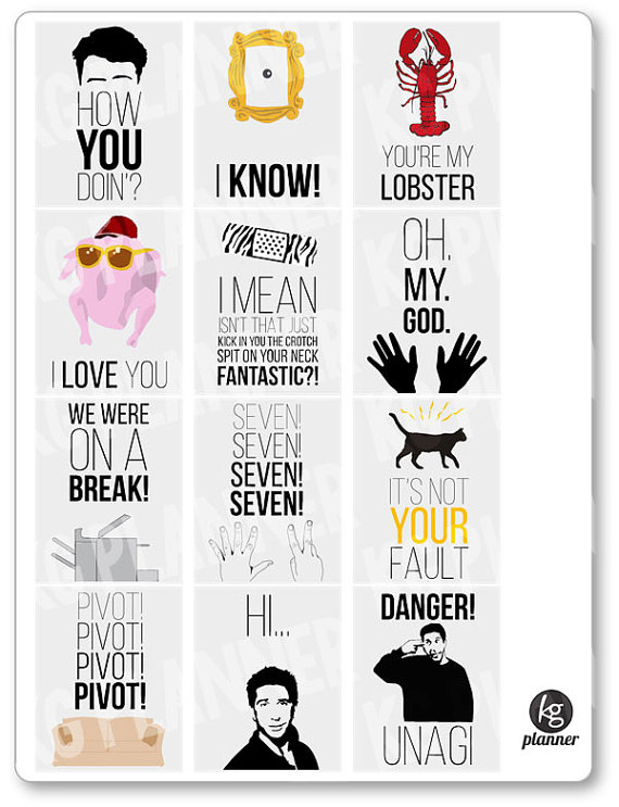 Quotes • Friends Full Box Planner Stickers #usquotes
