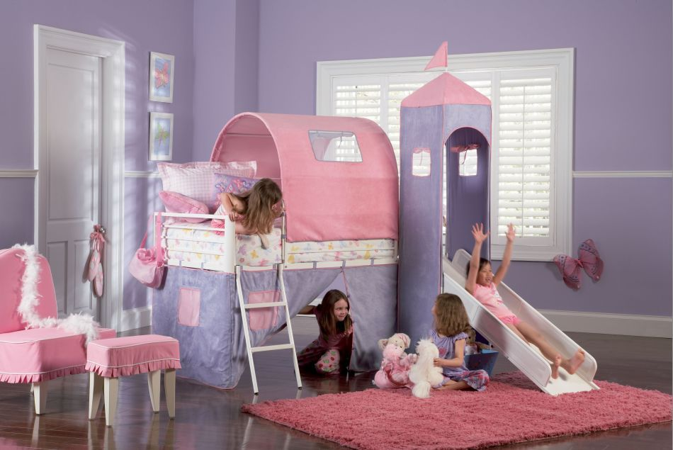 Riley Would Love This Bed With Slide Girls Bedroom Furniture Toddler Bedroom Girl