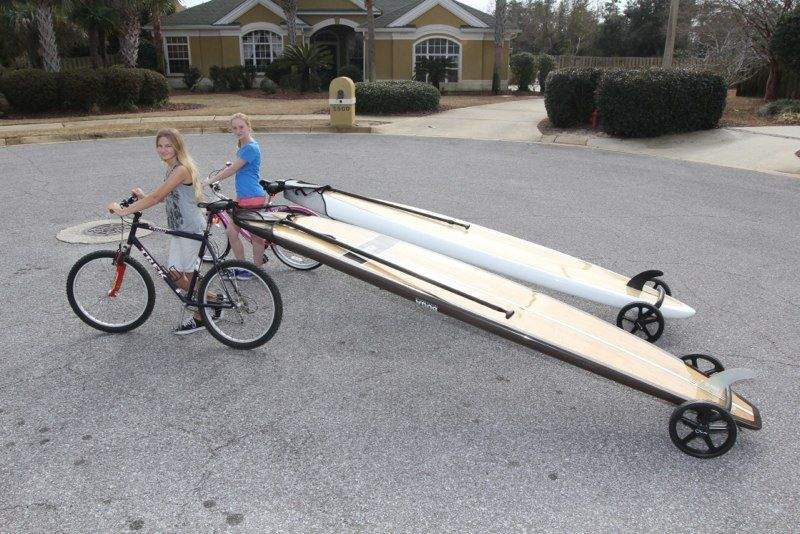 A Lightweight And Collapsible Dolly And Bike Trailer For A Stand