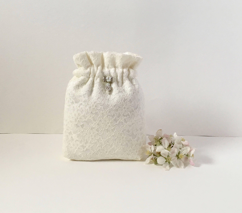 White clutch, evening bag, bridal bag, flower girl bag, Ivory satin ...