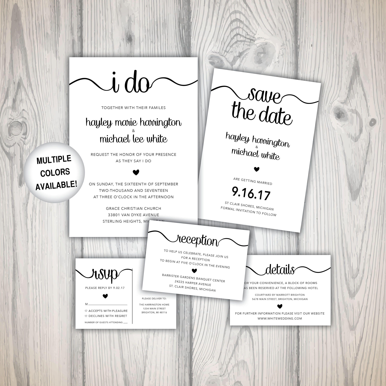Pin by Gina Tignanelli on Etsy Pinterest Wedding invitation
