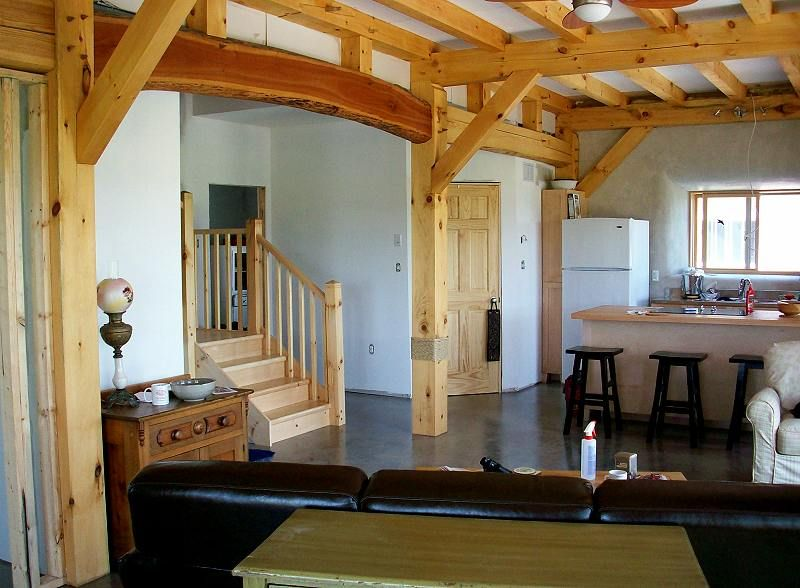 Timber frame and straw bale house pinterest straw for Timber frame straw bale house plans