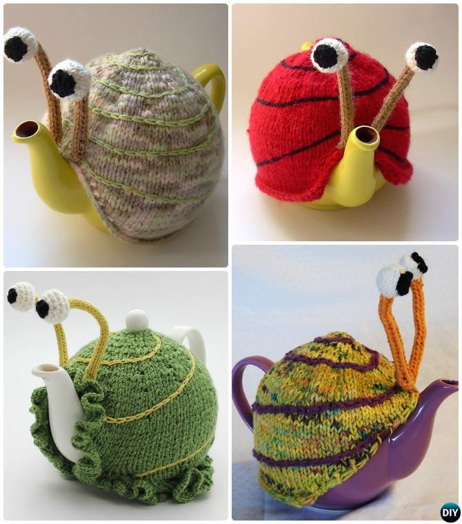 Knit Snail Tea Cozy Pattern-20 Crochet Knit Tea Cozy Free Patterns ...