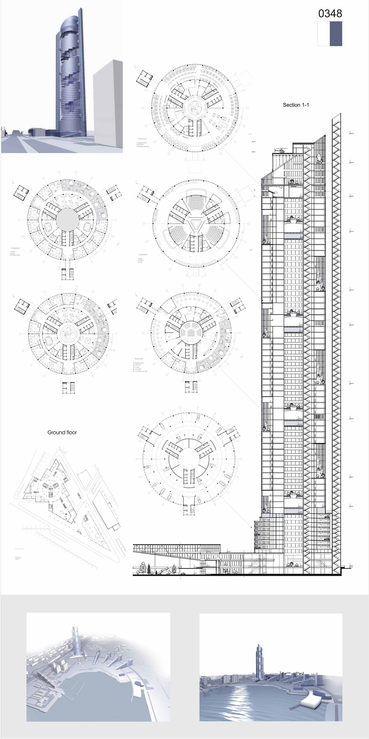 Architectural Drawings Of Skyscrapers skyscraper in moscow | project submitted to the 2006 skyscraper