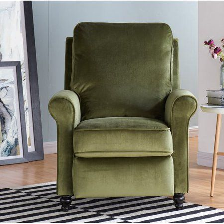 Free Shipping Buy Charlton Home Whitehaven Manual Recliner At Walmart Com With Images Green