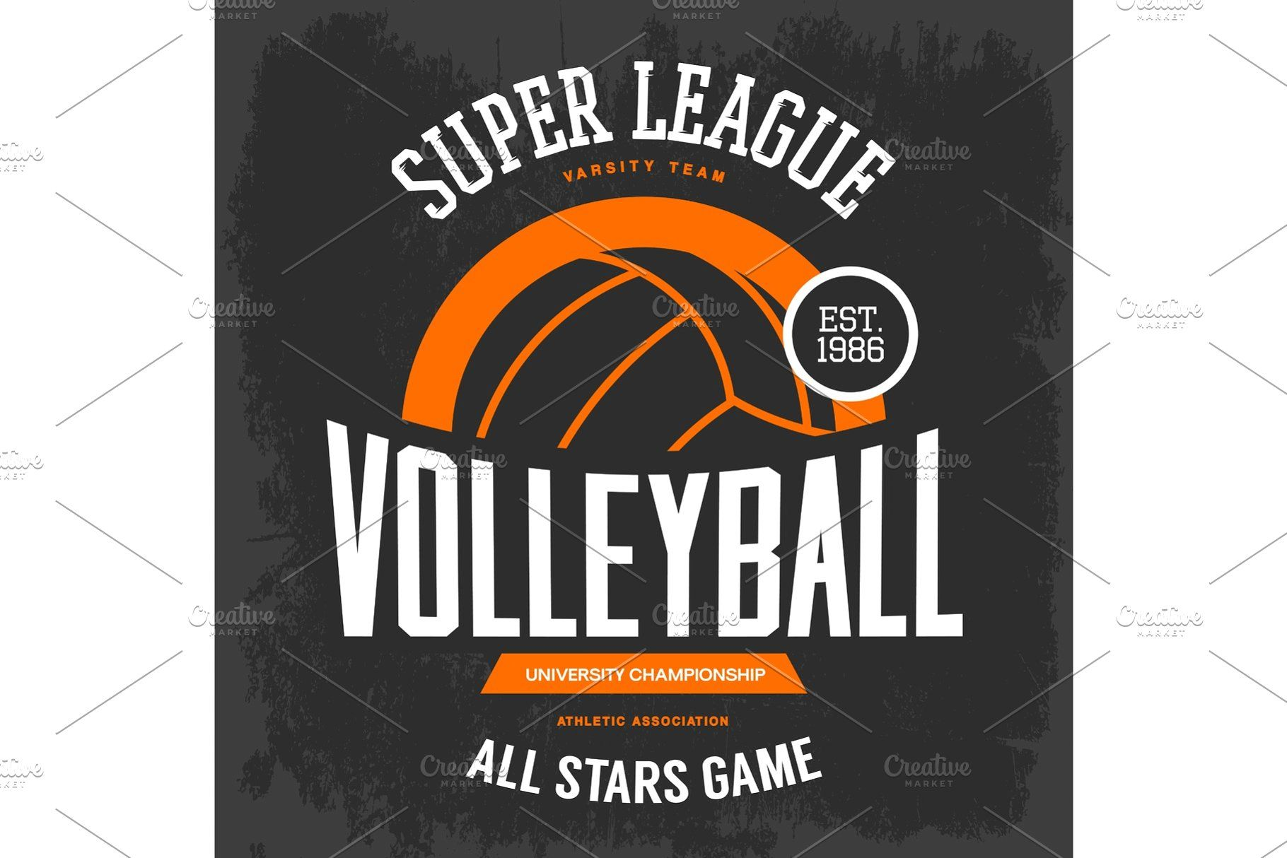 T Shirt Print With Volleyball Ball For Sport Team Sports Team Logos Sports Prints Sports Advertising