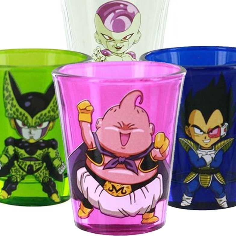 Dragon Ball Z Villain Shot Glasses Dragon Ball Z Dragon Ball Anime Gifts Dragon ball z bathroom decor
