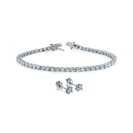 I found this amazing 2-Piece Set: Simulated-Diamond Tennis Bracelet & Studs in Sterling Silver at nomorerack.com for 84% off.
