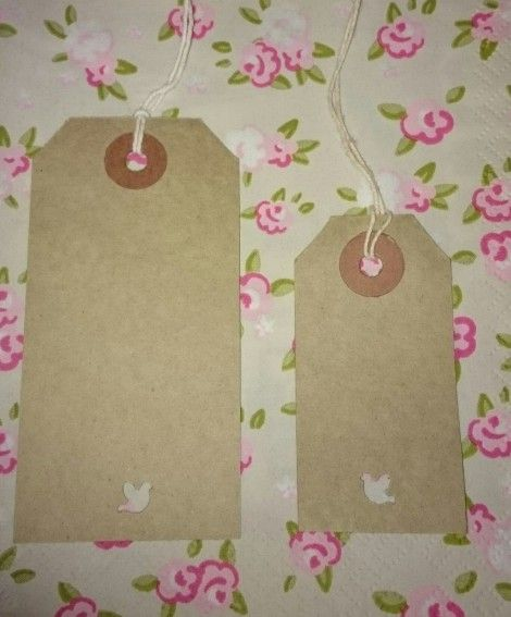 Dove Cut Out Brown Gift Tags x20