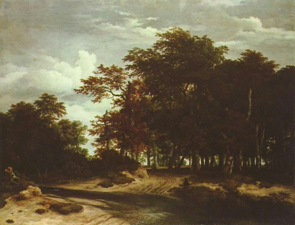 Landschaftsmalerei barock  Jacob Isaaksz. van Ruisdael. Der große Wald. 2. Drittel 17. Jh ...