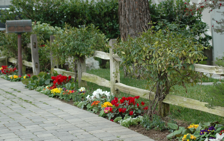 Image result for driveway marker rail fence corner
