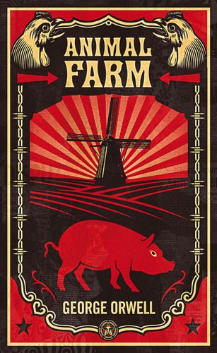 The Book Cover Archive: Animal Farm, design by Shepard Fairey | Penguin books  covers, Animal farm book, Animal farm george orwell