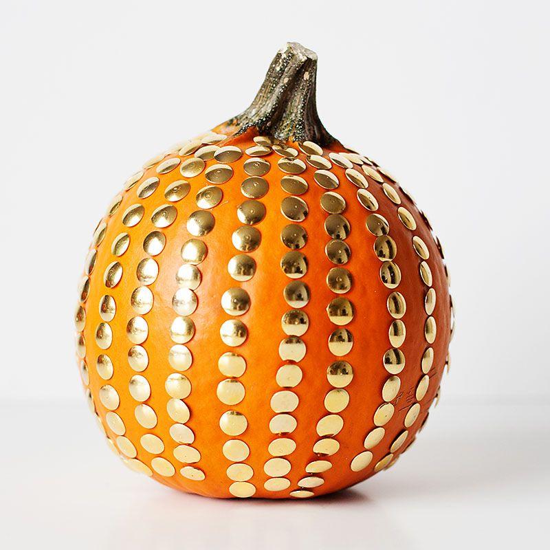 Brass Thumbtack Pumpkin Holiday Ideas Pinterest Carving