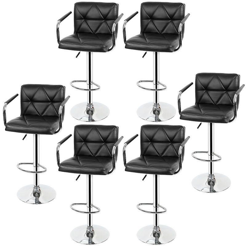 Tabouret De Bar Lot De 6 Avec Siege Bien Rembourre Tabourets En Cuir Artificiel Reglable Noir Mop8rb4vqfzj9bs147u64150u3b U0g1im117xaz Home Decor Furniture Chair