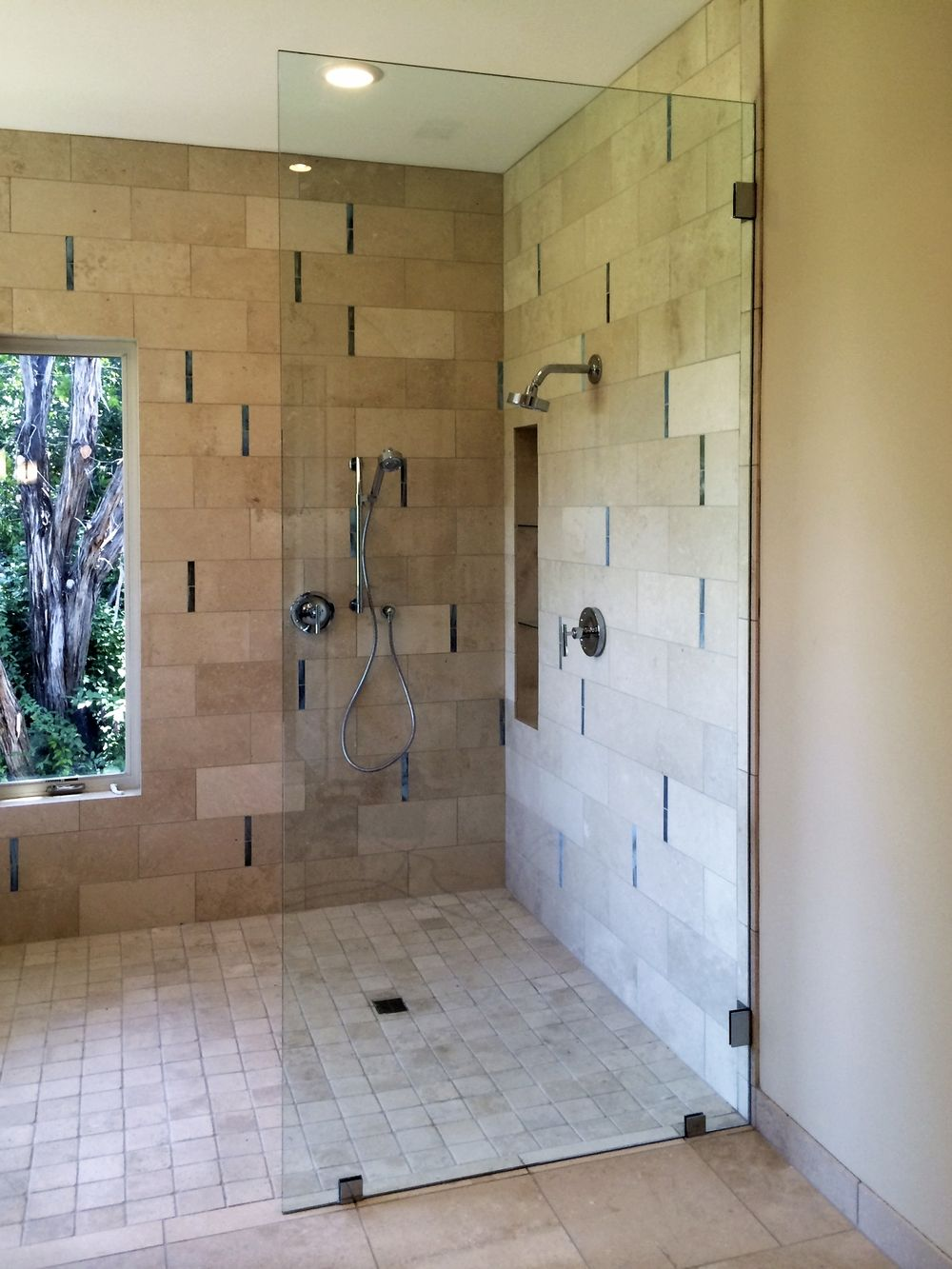 in half parts door bathtub glass frameless doors bathroom swinging installation seal out for custom shower
