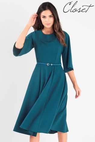 Closet Bell Sleeve Full Panelled Skirt Dress  05634fe26