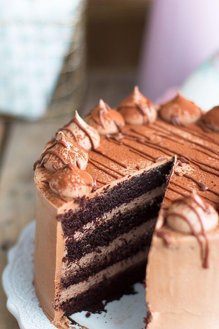 Tarta De Nutella Y Chocolate La Mejor Tarta Del Mundo Tartas Pastel De Nutella Rellenos De Pastel De Chocolate