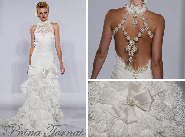 Beautiful Backless Pnina Tornai wedding gown at Kleinfeld bridal I don ut like the bow