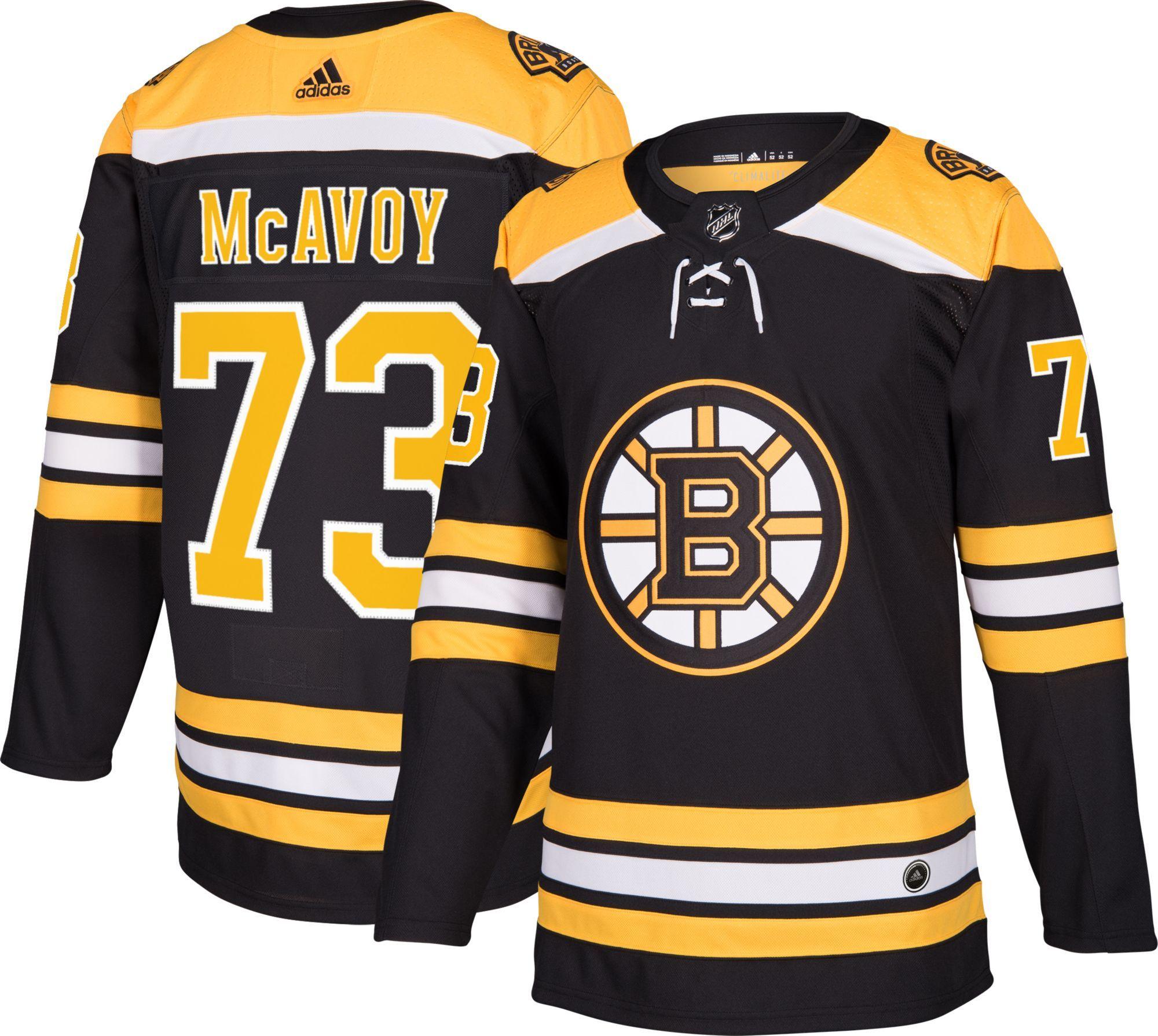 save off 9988e cc133 adidas Men's Boston Bruins Charlie McAvoy #73 Authentic Pro ...