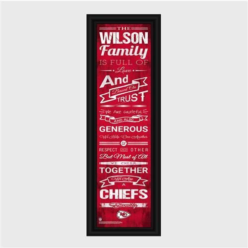 Personalized NFL Family Cheer Print & Frame - Chiefs
