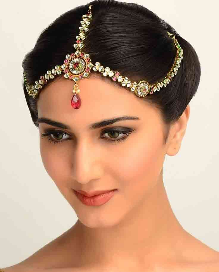 Wedding Party Hairstyle For Thin Hair: Matha Patti And Mang Tikka Hairstyles For Party 2019
