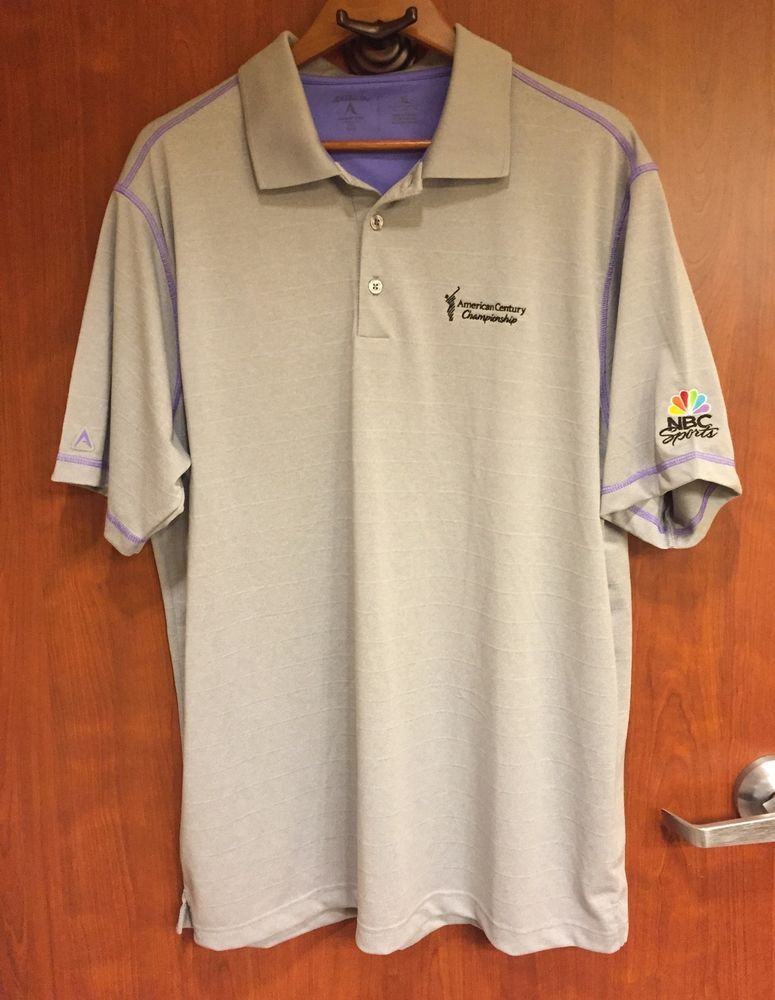 ☀NBC Sports Antigua Polo Golf Shirt☀Gray Desert Dry