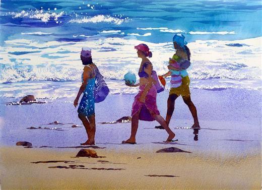 Beach Girls 11 x 15 inches sold